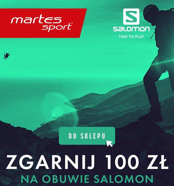 Zgarnij 100 zł na obuwie Salomon w sklepach Martes Sport